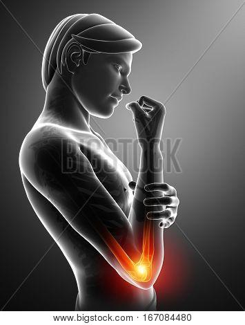 Women Feeling The Elbow Pain