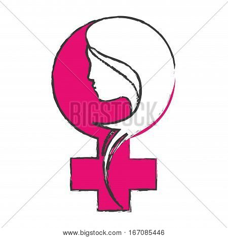 feminism related icons image vector illustration design