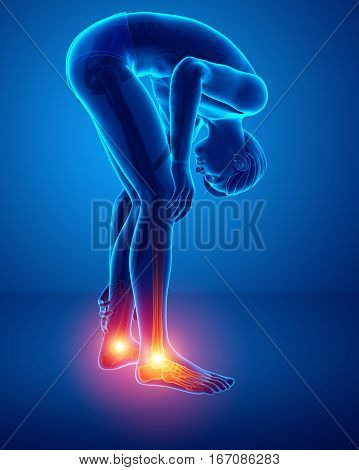 Male Foot With Ankle Pain