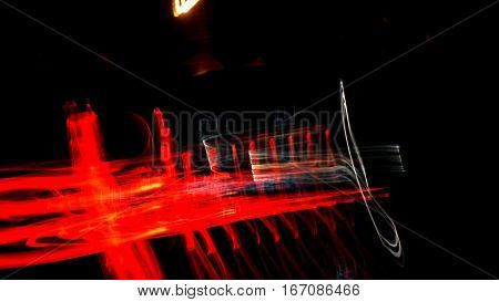 Night lights on street Astir ,Abstract texuture