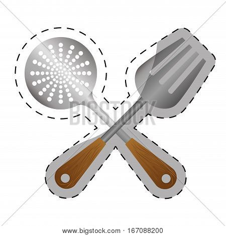 skimmer kitchen supplies icon image vector illustration design