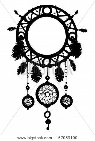 Native american ethnic tribal talisman. Vector art