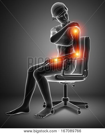 Women Feeling Arm Joint Pain
