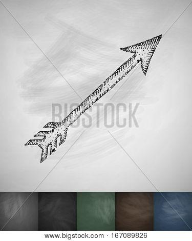 arrow icon. Hand drawn vector illustration. Chalkboard Design