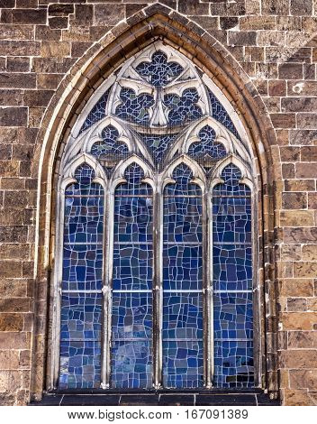 Ancient mosaic decorative window, Bremen Cathedral, Germany