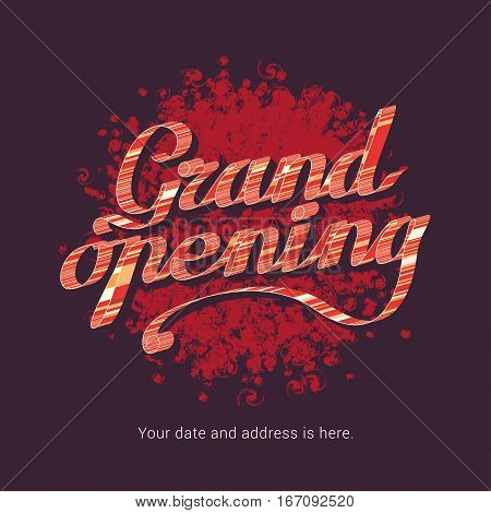 Grand opening vector illustration background for store club etc. Template banner flyer design element decoration for opening event new shop coming soon