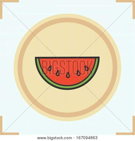 Watermelon color icon. Water melon. Isolated vector illustration