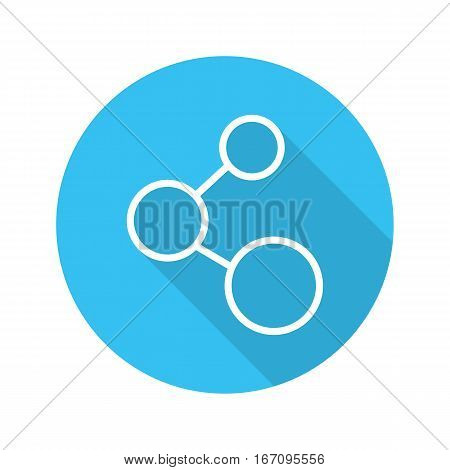 Network connection sign. Lan. Flat linear long shadow web icon. Vector line symbol