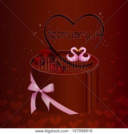 love valentines day, valentines day sweet chocolate cake