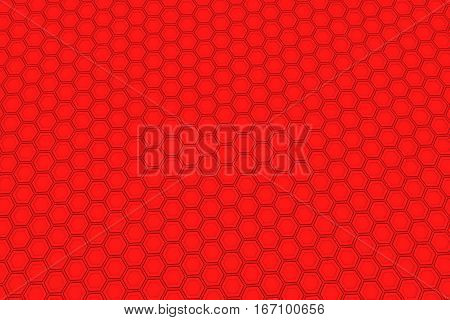 Wall Of Red Hexagons