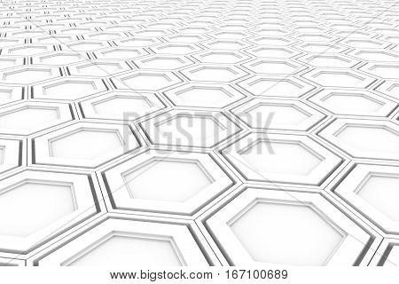 Wall Of White Hexagons