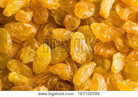 Top Macro View Of The Large Raisins
