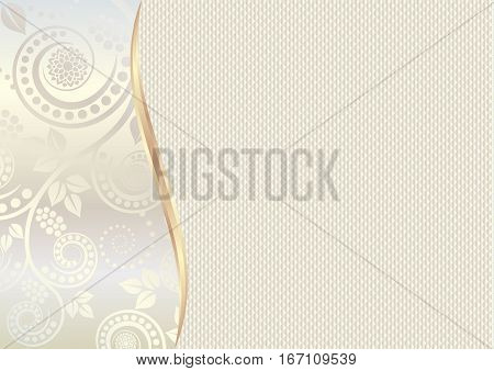 textured background with floral motif - vector illustration