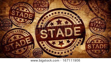 Stade, vintage stamp on paper background