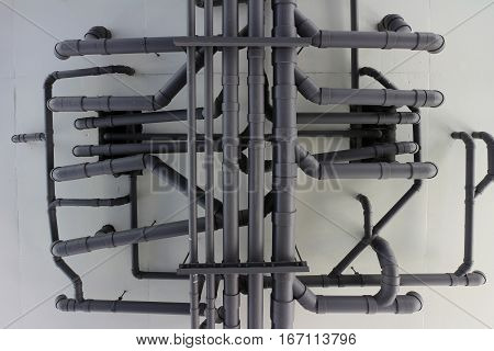 Piping System of an Apartment View from Bottom