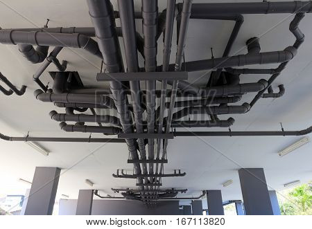 Piping System of an Apartment Perspective View