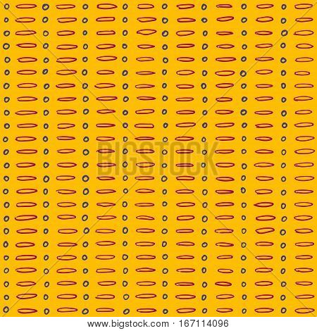 Simple dot and dash sunny pattern seamless vector backdrop.