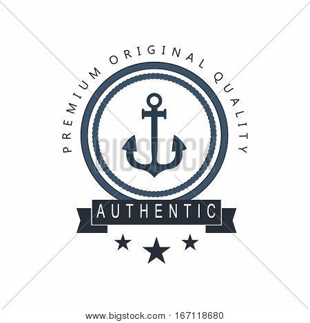 Sea and nautical decoration isolated on white background. Marine of element for company logo, business identity anchor retro badge. Vector nautical logo.