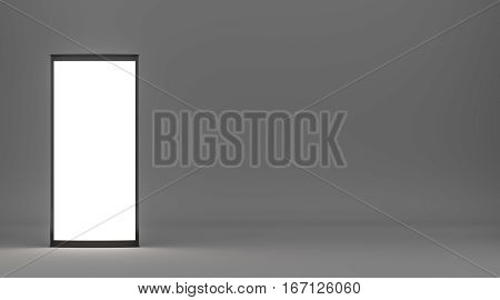 Lightboxe On studio Background. 3D rendering. Template for your Design