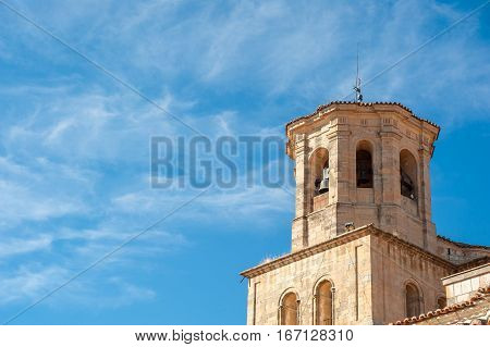 tower bell to Romanesque Cathedral Toro Zamora Spain