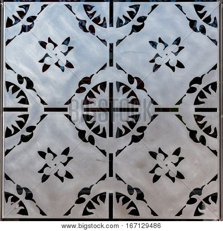 Stainless Steel Decorative Tile with detail in square