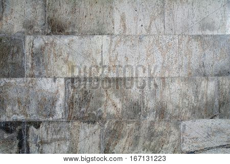 Background wall of gray brown stone tiles texture.