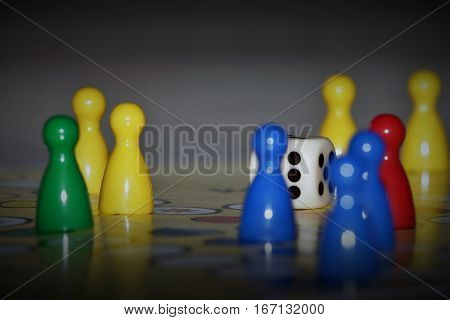 Ludo is board game played between friends, family & kid