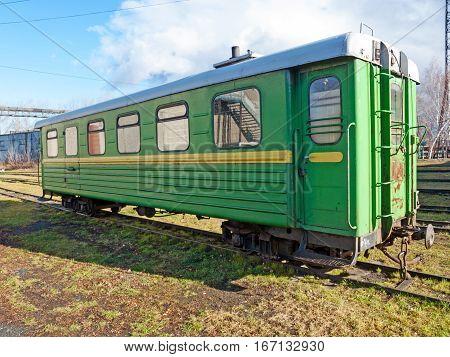 Narrow-gauge railway wagon . Rusia . Ural