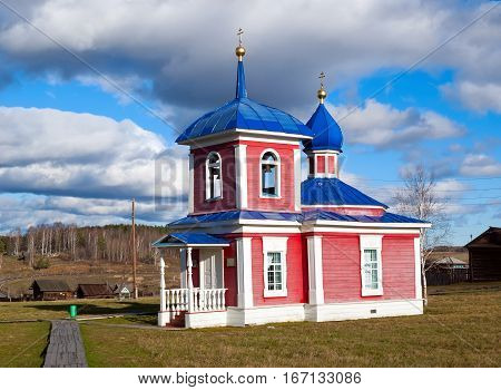 Chapel of the Ascension the beginning of the XIX century. Russia