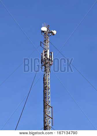 Cell telecom tower and radio wireless antenna