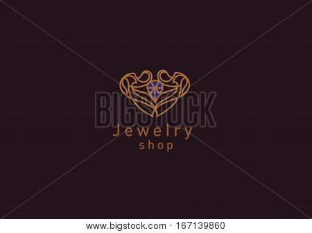 Line Logo, A Diamond In A Frame, For Jewelery Shop