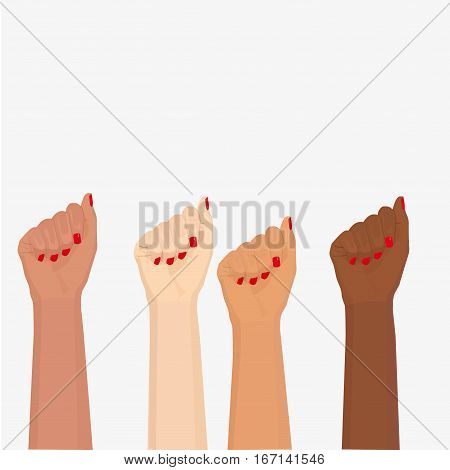 Woman Hand With Clenched Fist,