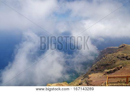 The wonderful landscape from Mirador de Isora El Hierro island. Spain