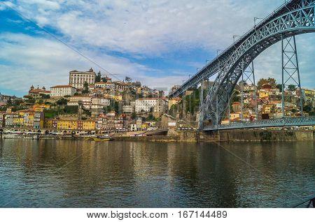 City view of Porto and the Douro river Porto Portugal.