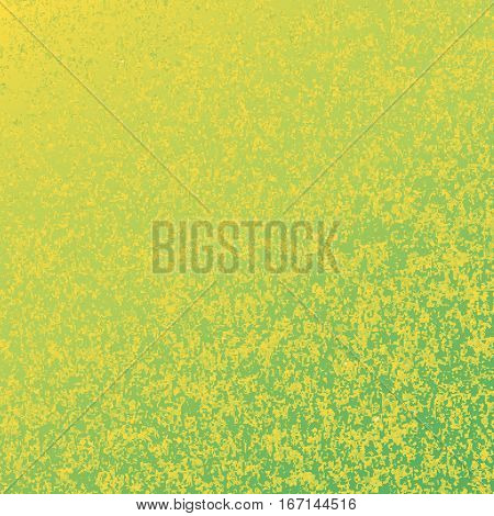 Yellow green speckled background. Abstract vector background
