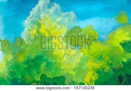 Abstract watercolor painted background watercolor texture art