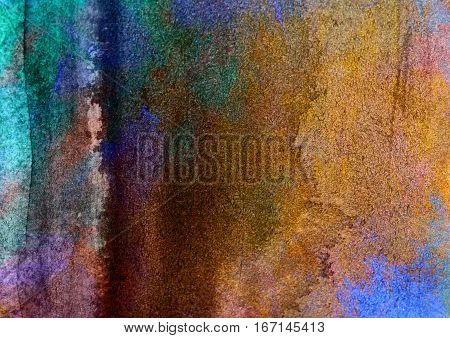 multicolored watercolor painted background texture paper bright abstract