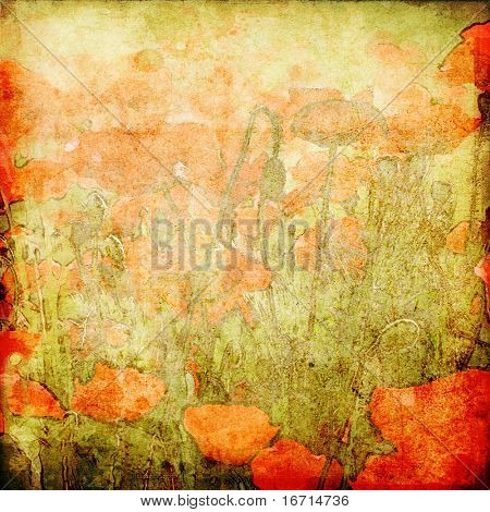 art floral grunge graphic background