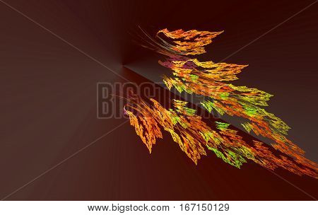 an abstract and colorful feather of Sunbird
