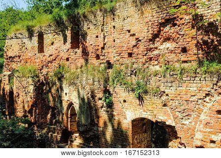 Balga - ruins of medieval castle of the Teutonic knights. Kaliningrad region, Russia