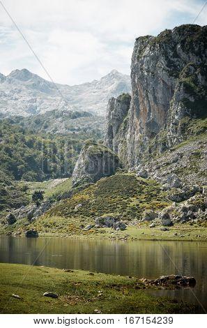 Peaks in Picos de Europa National Park, Asturias, Spain.