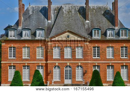 Bois Heroult France - june 23 2016 : the castle