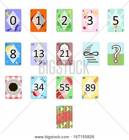 illustration of the Agile Poker Planning Estimation Cards.