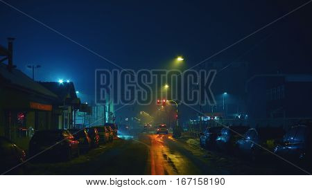 Dark Streets In Winter