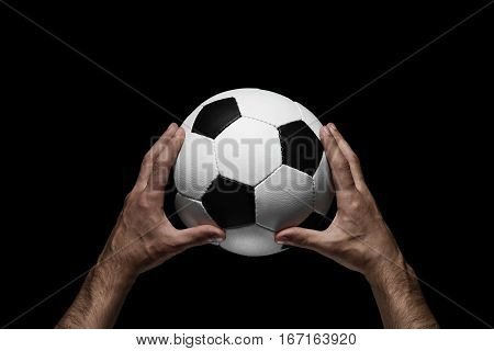 Soccer Ball In Male Hands