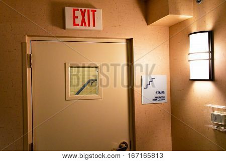 Scottsdale USA - july 7 2016 : an hotel exit