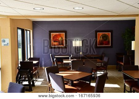 Scottsdale USA - july 7 2016 : an hotel dining room in the city center