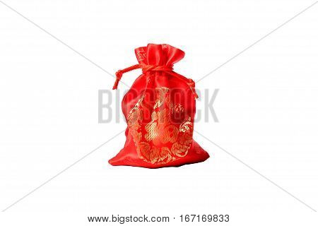 Gift in Red bag with text