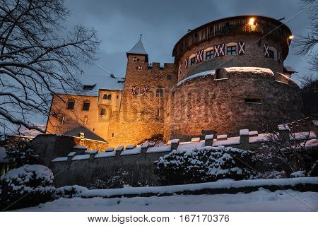Old Medieval Castle In Vaduz, Liechtenstein