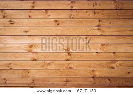 Wooden light brown blockhouse as a background